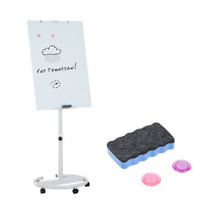 77 Writing Whiteboard Easel Dry Erase Board Height Adjustable Rolling Wheels