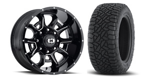 20x10 Black Vision Bomb Fuel At Tire Wheel Tire Package 8x6 5 Chevy 2500 3500
