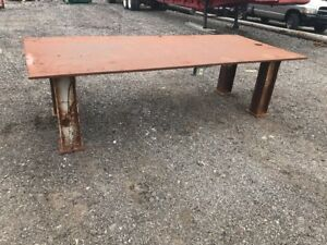 H d 1 Thick Top Steel Fabrication Layout Welding Table Work Bench 132 5 X 52