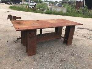 H d 1 Thick Top Steel Fabrication Layout Welding Table Work Bench 45 X 100