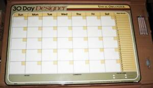 Mead 32x22 Dry Erase 35 Day Monthly Grid Calendar White Board Undated Ds701 New