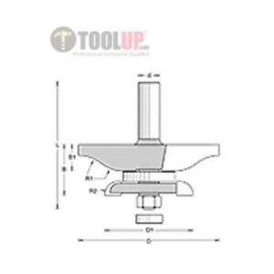Amana 54221 3 8 Ogee With Back Cutter Router Bit
