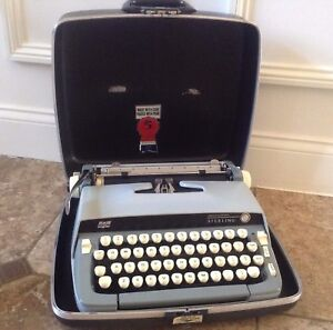 Smith Corona Sterling Portable Typewriter And Carrying Case
