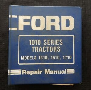 Genuine Ford 1310 1510 1710 Tractor Service Repair Manual W binder Good One