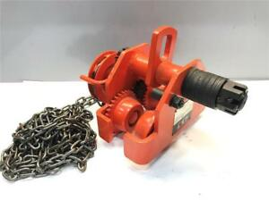 1 Ton Jet Chain Fall Hoist I Beam Geared Ball Bearing 1gbt Trolley 252510