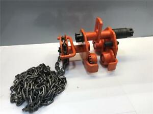 1 2 Ton Jet Chain Fall Hoist I Beam Geared Ball Bearing 1 2gbt Trolley 252505