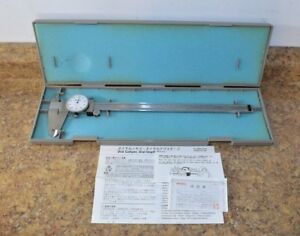 Mitutoyo 505 645 50 12 Dial Caliper W Case Pre owned Free Shipping