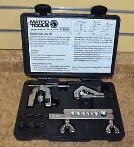 Matco Tools Dfs260a Double Flare Tool Set W Case Free Shipping