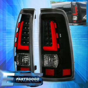 Red Led Tube Tail Lights For 1999 2006 Chevy Silverado Gmc Sierra Black Housing