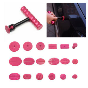 Small Auto Body Paintless Dent Puller Tabs T Bar Suction Pdr Tools Removal Kit