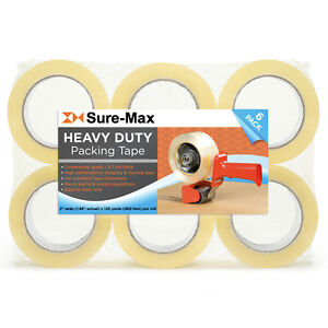 2 Heavy duty 2 7mil Clear Shipping Packing Moving Tape 120 Yards 360 Ea