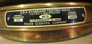 Fisher Mesh Brass Sieve No 70