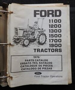 79 82 Ford 1100 1200 1300 1500 1700 1900 Tractor Parts Manual Catalog In Binder