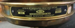 Fisher Mesh Brass Sieve No 230