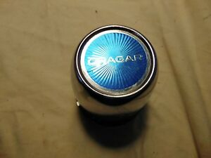 1 Vintage Cragar Push Through Wheel Center Blue Cap