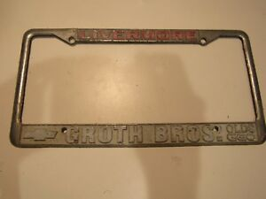 Livermore Ca Groth Bros Chevrolet Metal Dealership License Plate Frame