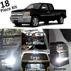 For 2007 2013 Silverado Sierra White Led Interior Exterior Lights Kit tool Cs3f