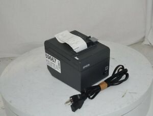 Epson M249a Tm t20 Point Of Sale Thermal Printer W power Cord test Page