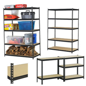 5 Tier Shelving Storage Racks Heavy Duty Steel Warehouse Shelves Racking Us