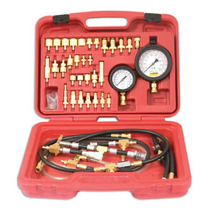 Master Fuel Injection Pump Pressure Tester Test Kit W Low High Pressure Gauges