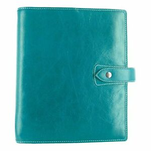 Filofax Malden Kingfisher A5 Size Leather Organizer Agenda Planner Ring Binde