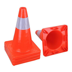 18 Safety Pvc Road Traffic Cones Emergency Parking School Sports Overlap Cone