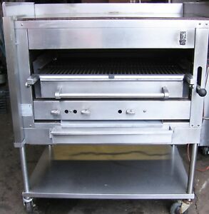 Montague Broiler Cook Top Grill Salamander Char Oven Natural Gas W Stand casters