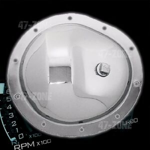 Chrome Steel 8 5 Ring Gear 10 Bolt Front Differential Cover For Chevy Gm