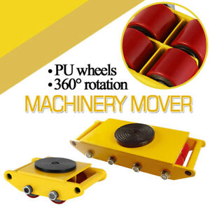 6t 12t Industrial Machinery Mover Heavy Duty Dolly Skate Roller Cargo Trolley