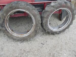 Farmall Ih Cub Or Low Boy Tractor 8 X 24 Matched Tread Tire Tires Ih Rims Rim