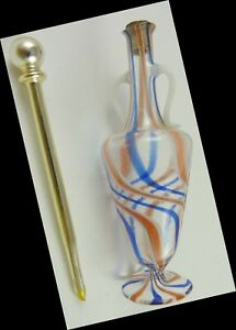 Czech Perfume Bottle With Mercury Glass Dauber Genuine Vintage 1930s