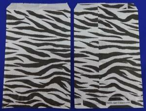 6 X 9 Zebra Print Design Paper Merchandise Bag Retail Shopping