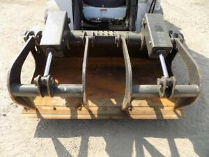 2016 Bobcat 62 Dual Cylinder Grapple Bucket Ssl Quick Attach Fits Many Models