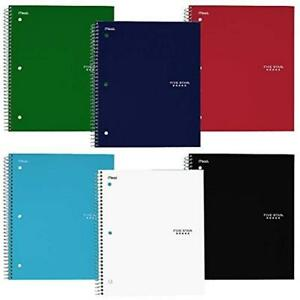 Wirebound Notebook 3 subject 150 College Ruled Sheets Assorted Colors pack