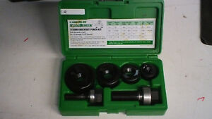 Greenlee 7235bb Slug Buster Knockout Punch Set Kit 1 2 To 1 1 4 Conduit Tool