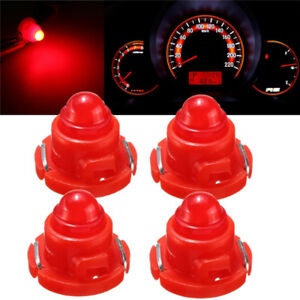 4x T5 T4 7 Neo Wedge Led Bulb Dash Dashboard Gauge Cluster Instrument Light Red