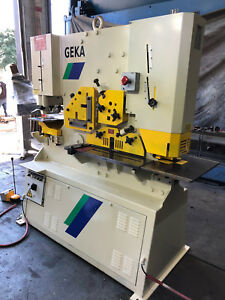 Geka Hydracrop 110a 120 Ton Ironworker Fabricating Machinery