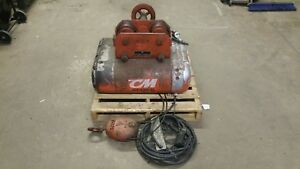 Cm 20 2 Ton Lift Cable Hoist With Trolley And Pendant Series 662 Will Ship