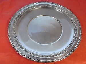 Vintage Wallace Sterling Silver Platter Tray L112
