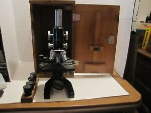Vintage Bausch Lomb Microscope No 249809 In Box W accessories