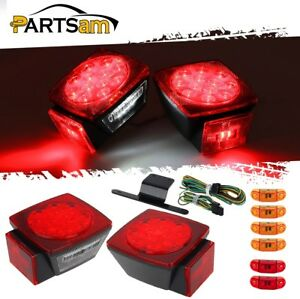 Under 80 Red amber white stop Turn Tail License 2 57 2led Side Marker Lights