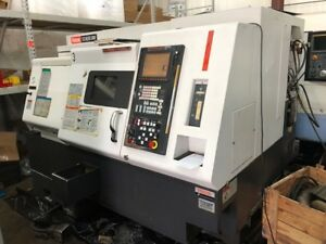 Used Mazak Qtn 200m Cnc Lathe 2004 Live Tooling Tailstock 8 Chuck 2 Fusion 640