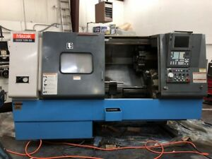 Used Mazak Quick Turn 300 Cnc Lathe 2000 10 Chuck Fusion 640 Tailstock Chip