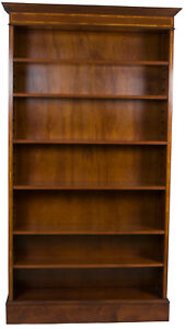 New Antique Style Single Open Tall Mahogany Bookcase Bookshelf Adjustable Large