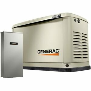 Generac Guardian 11kw Aluminum Standby Generator System 200a Service Disconn