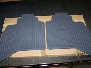 2006 2010 Dodge Ram 1500 2500 Quad Cab Model Rear All Weather Floor Mats