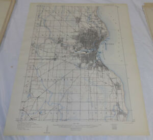 1906 Topographic Map Milwaukee Special Map Milwaukee County Wi