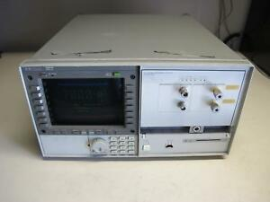 Agilent Hp 70004a Display And 70428a Microwave Source Module W Opt 002