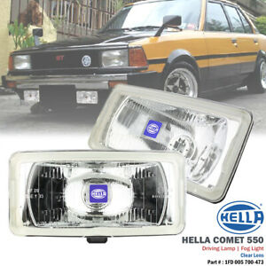 2x Hella Comet 550 Clear Lens H3 12v Driving Fog Light Lamp For Ford Toyota Bmw