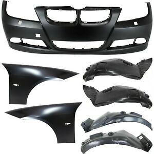 Bumper Cover Kit For 2007 2008 Bmw 328i Front 3pc